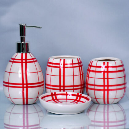 Round Shape Ceramic Bathroom Set
