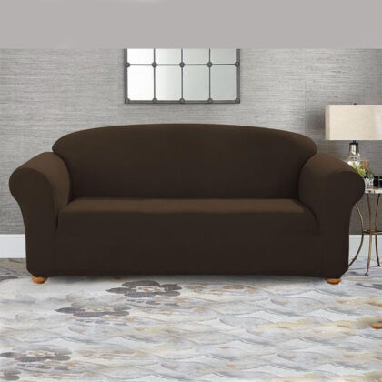 Fitted Sofa Cover Seater Brown