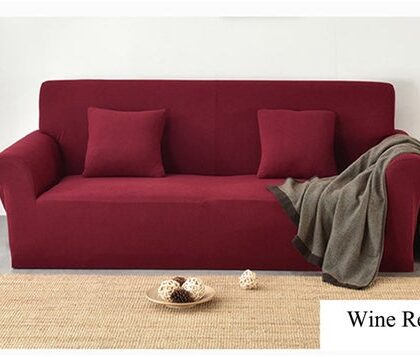 Fitted Sofa Cover Red Wine