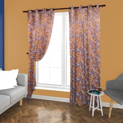 Silk Fabric Multi Color Curtain Blackout