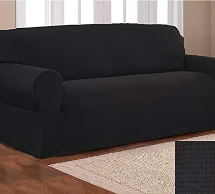 Fitted Sofa Cover Seater Black