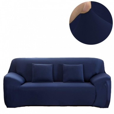 Fitted Sofa Cover Seater Blue